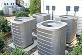 Air Conditioning Units At Apartment Complex — Stock Photo