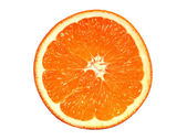 Fresh Orange Slice On White Background — Stock Photo