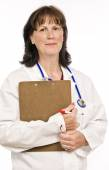 Nice Doctor With Clipboard — Stock Photo