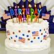 4th Of July Patriotic Birthday Cake — Stock Photo #59448529
