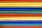 Close Up Of Brightly Colored Plastic File Folders — Stock Photo