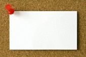 Blank Business Card On Corkboard — Stock Photo