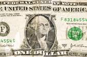 Badly Torn And Repaired Dollar Bill — Stock Photo