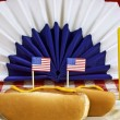 Patriotic Food (Please note: Focus is on little flags) — Stock Photo #73858199