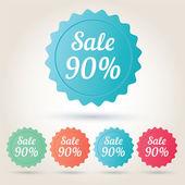 Vector verkoop 90 procent badge sticker — Stockvector