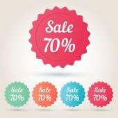Vector sale 70 per cent badge sticker — Stockvector