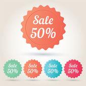 Vector verkoop 50 procent badge sticker — Stockvector