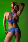 Muscular woman — Stock Photo
