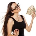 Woman holding money — Stock Photo #70678881