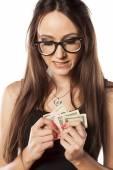 Greedy woman — Stock Photo