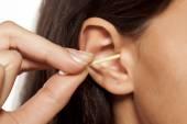 Ears hygiene — Stock Photo