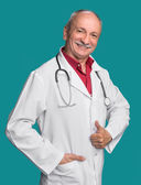 Happy medical doctor with stethoscope  — Stock Photo