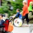 Blurred movement of disabled — Stock Photo #52154385