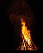 Orange fire flames — Stock Photo
