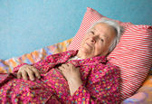 Senior sick woman — Stock Photo