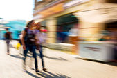 Busy people on the streets — Stock Photo