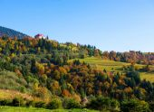Autumn landscape in Carpathian mountains — Stock Photo