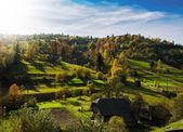 Paysage d'automne matin — Photo