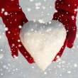 Snow heart — Stock Photo #57900465