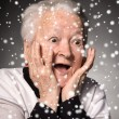 Portrait of surprised old woman — Stock Photo #58115685