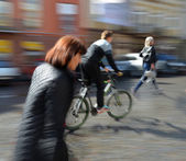 People going along the street — Stock Photo