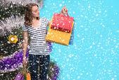 Christmas shopping — Stockfoto