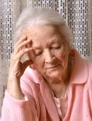 Old sad woman — Stock Photo