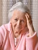 Old sad woman — Stock Photo