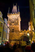 Prague, Czech Republic -  January 01, 2014:  Night photo of crow — Stock Photo