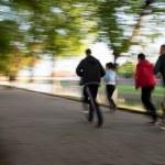 Group of runners on suburban street — Stock Photo #71897515