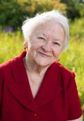 Beautiful smiling old woman — Stock Photo