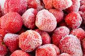 Frozen strawberries — Stock Photo