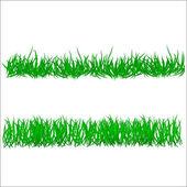Flower and grass Borders set. vector illustration — Stock Vector