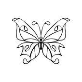 Vector sketch illustration - butterfly — Stock Vector