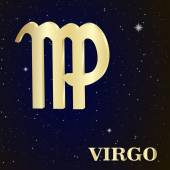 Sign of the zodiac Virgo is the starry sky — Stock Vector