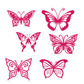 Butterfly set — Stock Vector