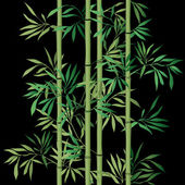Bamboo leaf background. Floral seamless texture with leaves. — Vector de stock