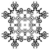 Ornament black white card with mandala. — Stock Vector