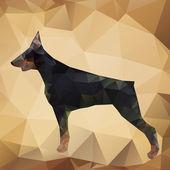 Vector Geometric Dog — Stock Vector