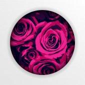 Vector beautiful roses in a circle — Stock Vector