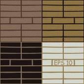 Set texture of brick wall — Stock Vector