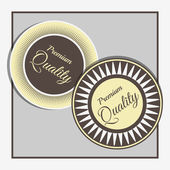 Vector labels with premium quality — Stock Vector