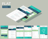 Flat UI design cincept. Background — Stock Vector