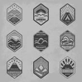 Mount badge set1 — Stock Vector