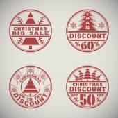 Descuento de navidad — Vector de stock
