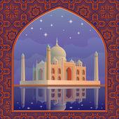 Taj postcard — Stock Vector