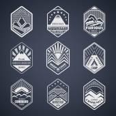 Mount badge set1white — Stock Vector