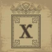 Letter X — Stock Vector