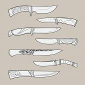 Knives2 — Stock Vector