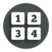 Cellphone keyboard sign icon. Digits symbol. — Stock Vector
